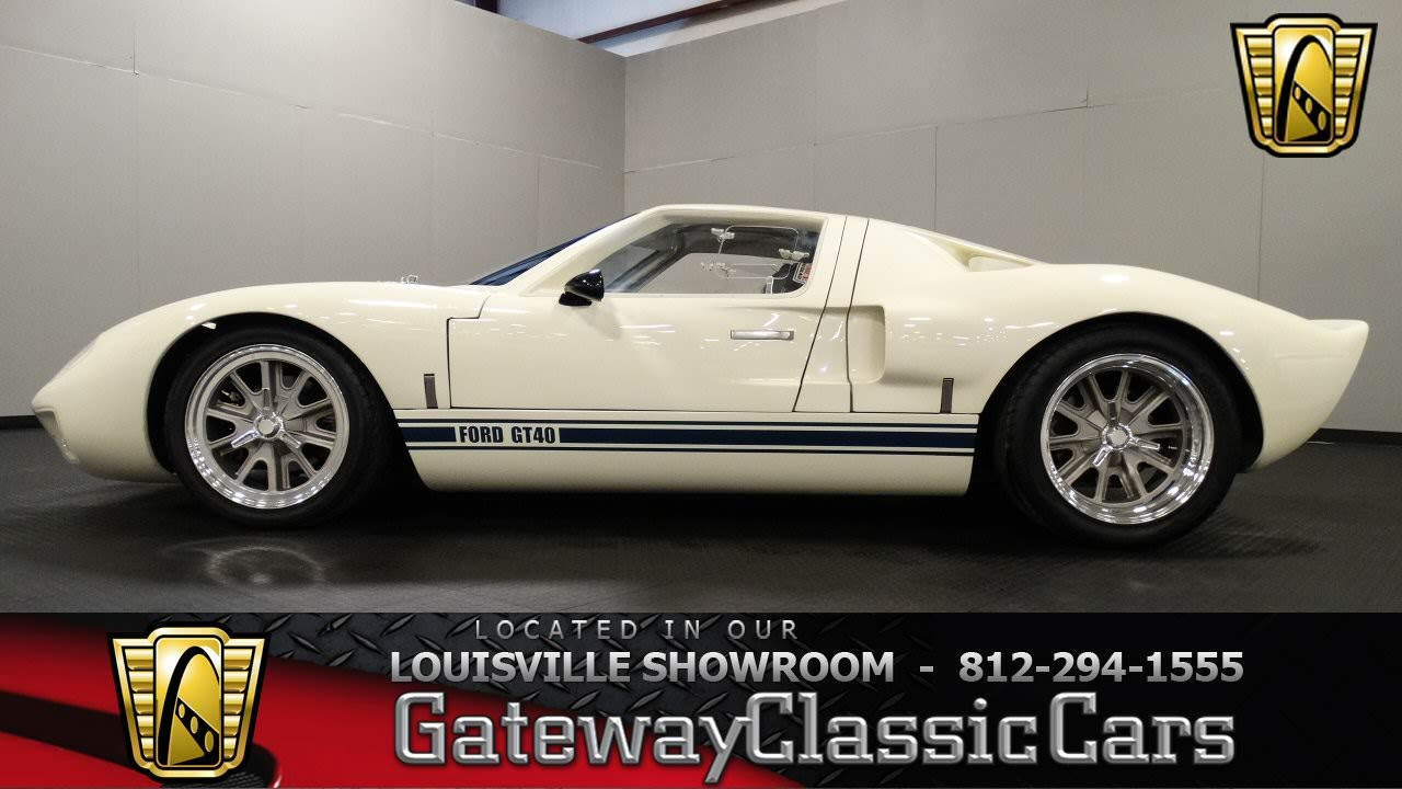 Ford Gt40 Replica For Sale >> 1965 Ford Gt40 Replica Louisville Showroom Stock 1201