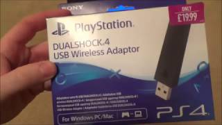 How to use the PlayStation DUALSHOCK4 USB Wireless Adaptor to Connect Controller to PC Wirelessly