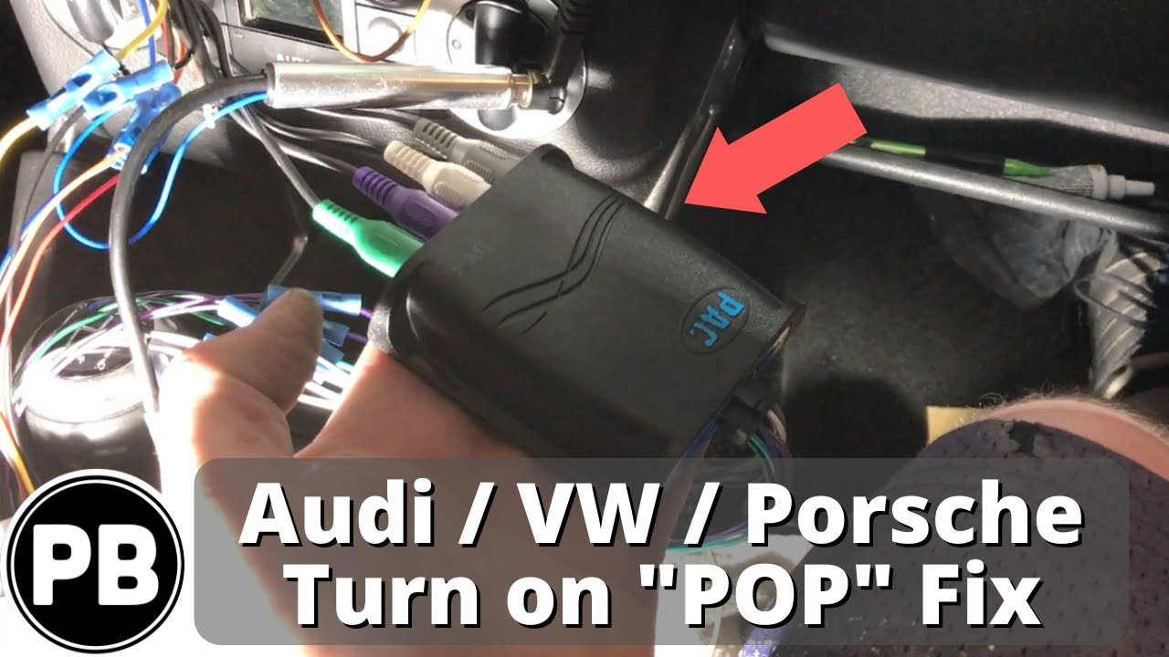 Vw Audi Bose Pop Solution When Aftermarket Radio Installed Youtube Wiring Adapter