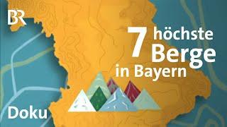 Die 7 Summits Bayerns Vom Hesselberg zur Zugspitze  Bergauf-Bergab  Doku  BR