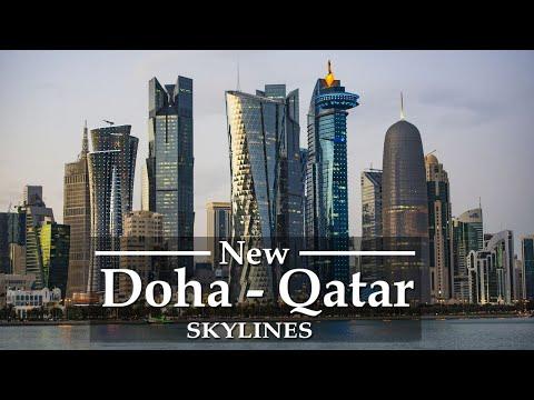 Doha, Qatar 🇶🇦 in [4K UltraHD] Stunning Skylines by Drone View Sights, دولة قطر   Explore Qatar city