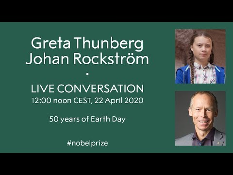 Greta Thunberg in conversation with Johan Rockström. Live stream from the Nobel Prize Museum