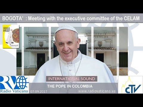 2017.09.07 Pope Francis in Colombia – Meeting with  committee of the CELAM