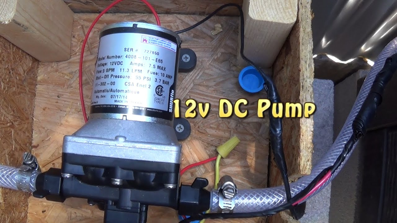 Wiring a 12v dc water pump to a switch for my off grid outdoor wiring a 12v dc water pump to a switch for my off grid outdoor bathroom triple s bath house youtube ccuart Choice Image