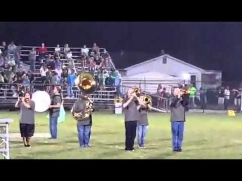 Trumann High School Marching Band 2015 (First Song, and football game)