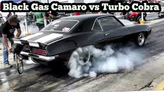 Black Gas Camaro vs Turbo Cobra at Reapers Out of Time No Prep Series