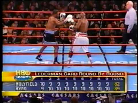 """Evander """"The Real Deal"""" Holyfield vs Chris Byrd - Heavyweight Championship - Rounds 7 - 12"""