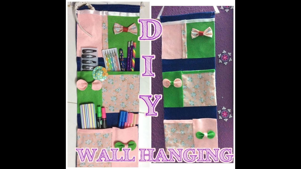 Fresh ✂ ✂ ✂ DIY- No SEW Pocket Wall Hangings 4 Stationeries  OR64