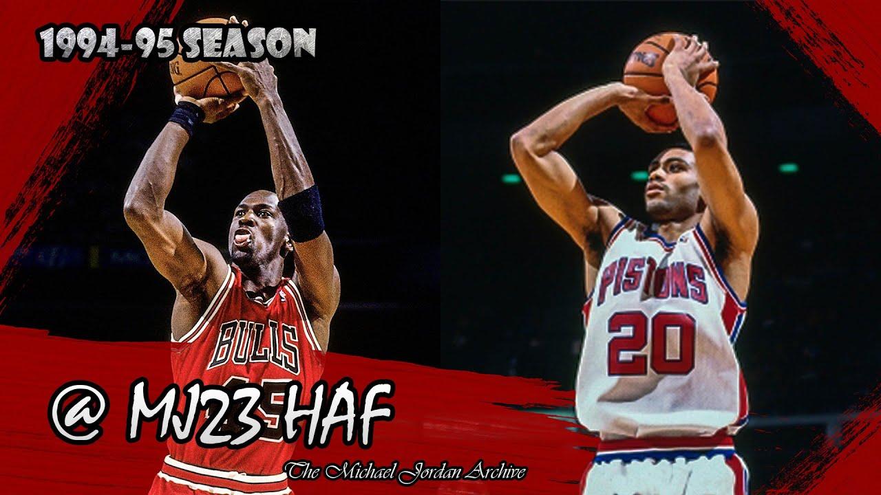 Michael Jordan vs Allan Houston Highlights Bulls vs Pistons