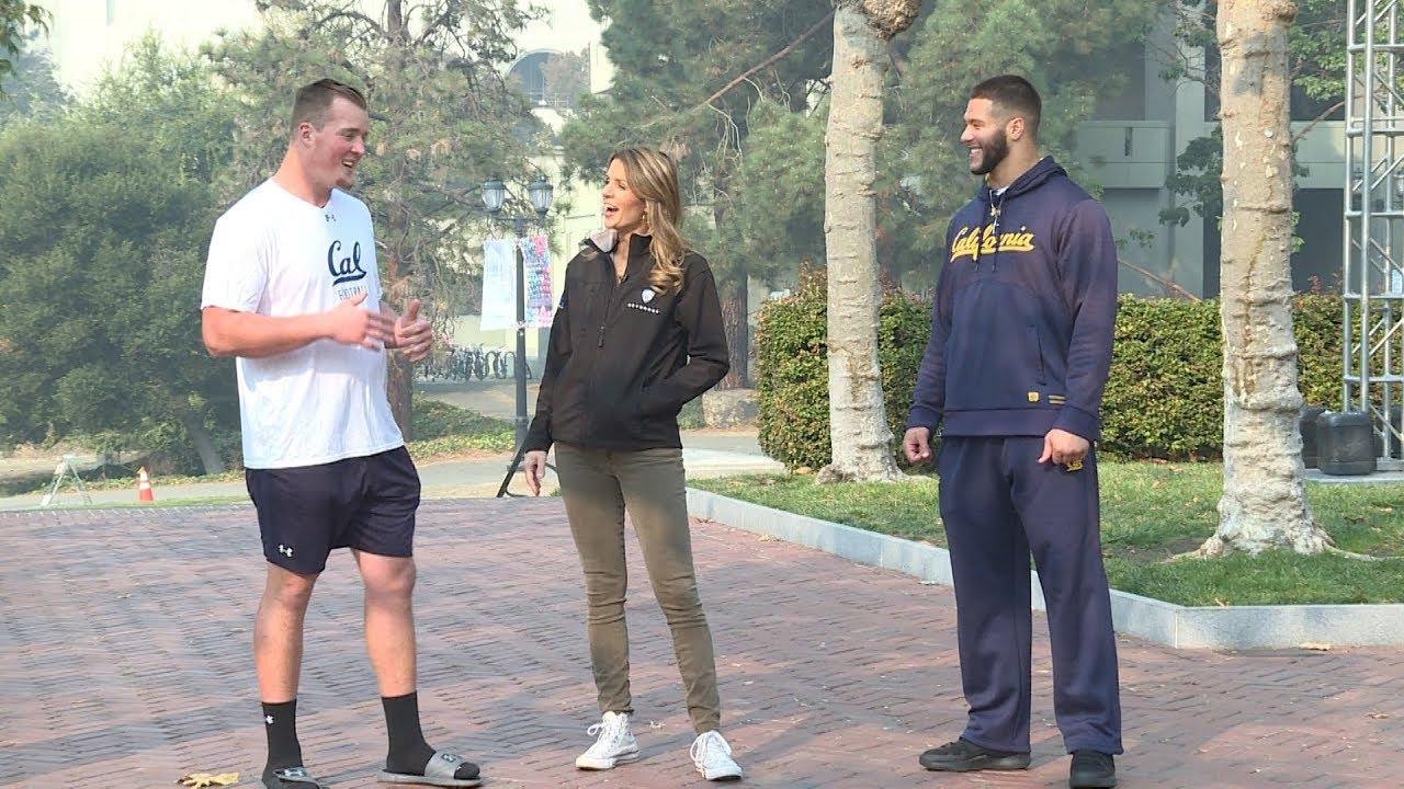 Cal linebackers Evan Weaver and Jordan Kunasyzk explain why the Campanile is their favorite spot...