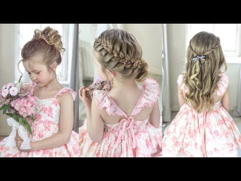 3 Cute Easy Flower Girl Hairstyles By Sweethearts Hair