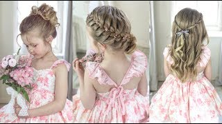 3 Cute & Easy Flower Girl Hairstyles by SweetHearts Hair