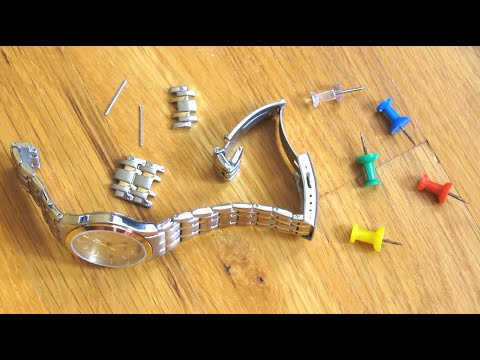 Use Push Pin to Resize Watch Links | Shorten Adjust Remove Watch Band Size | How To