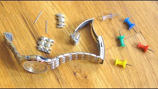 Use Push Pin t๐ Resize Watch Links | Shorten Adjust Remove Watch Band Size | How To