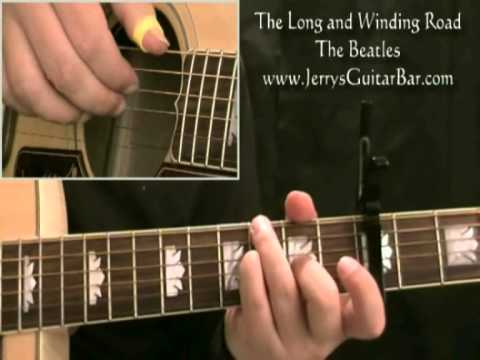 How To Play The Beatles Long And Winding Road On Guitar 1st Part
