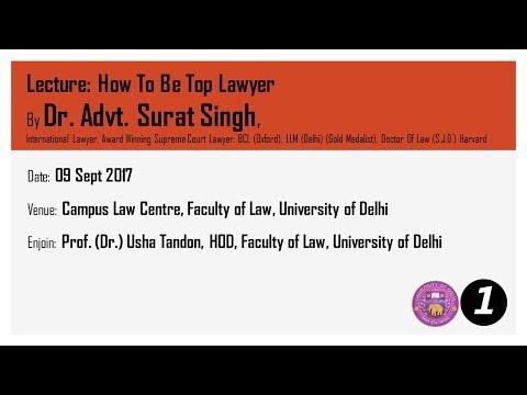 Law Faculty Delhi University Sr Adv Parag Tripathi PART 01