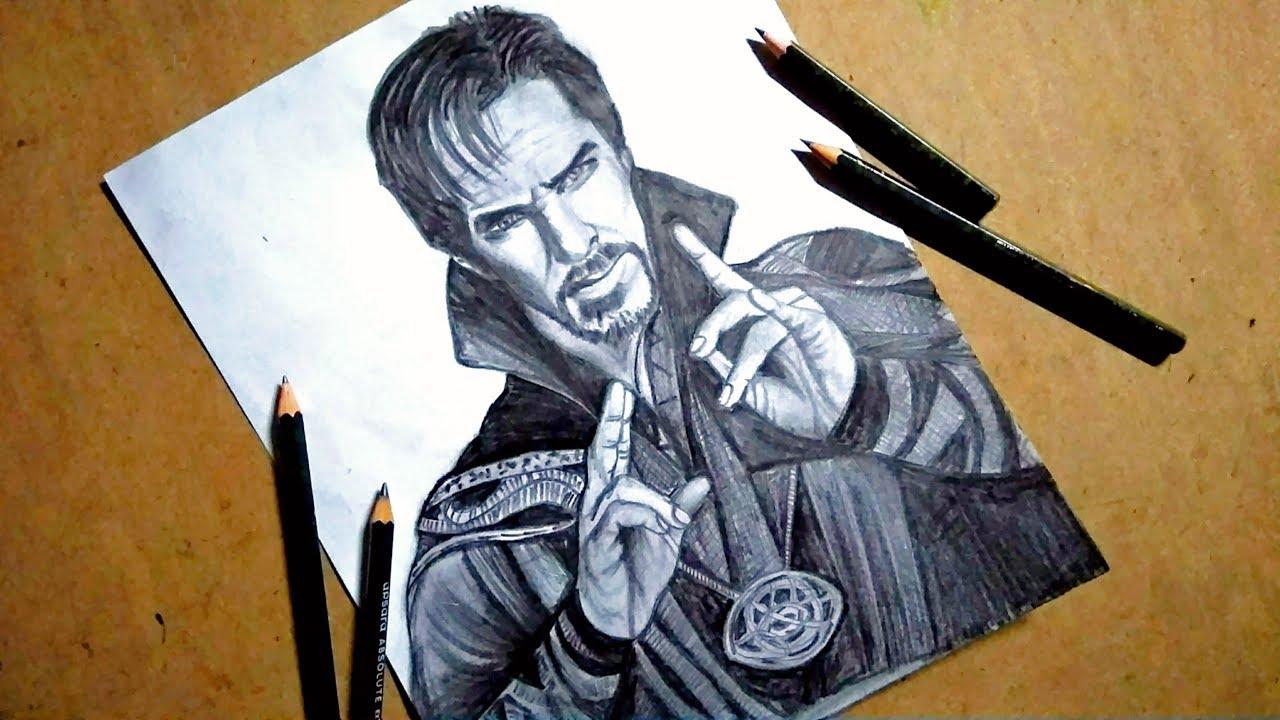 Dr strange avenger benedict cumberbatch sketching step by step pencil sketch