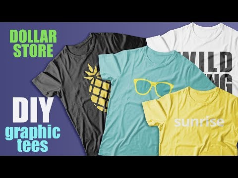 DOLLAR STORE DIY HACK///Easy and Cheap Graphic Tees