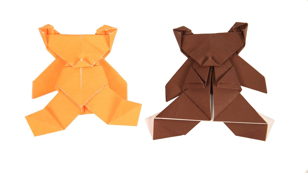 Origami Instructions Bear How To Make Origami Bear Kids Origami