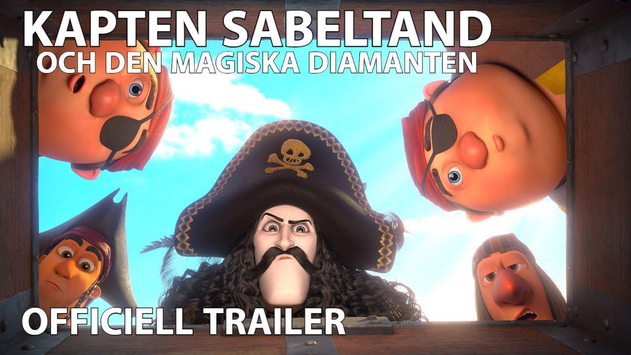 Download Kapten Sabeltand och den magiska diamanten | Officiell trailer | Biopremiär 22 maj