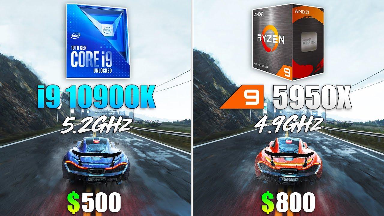 Ryzen 9 5950X OC vs Core i9 10900K OC - Test in 10 Games