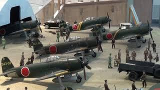 松山基地 日本海軍最強部隊 343航空隊 第三四三海軍航空隊 昭和20年2月頃 当時の様子を再現 剣部隊 隼部隊 川西 N1K2-J 紫電改