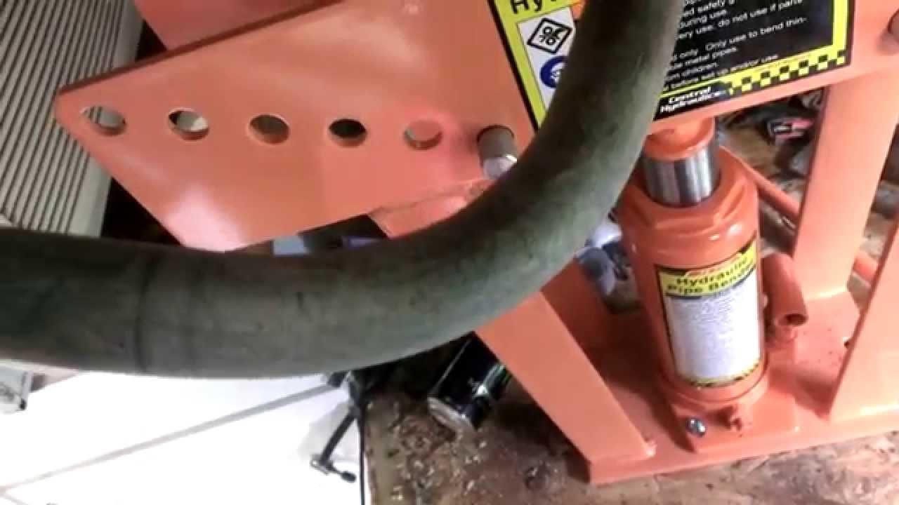 16 TON Pipe Bender (harbor freight) - YouTube