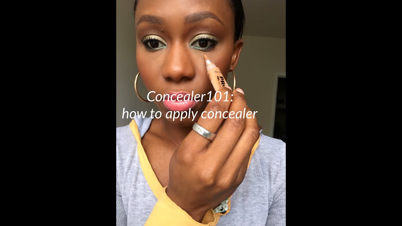How To Apply Concealer - YouTube