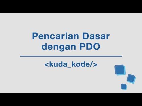Pencarian Dasar Dengan PDO