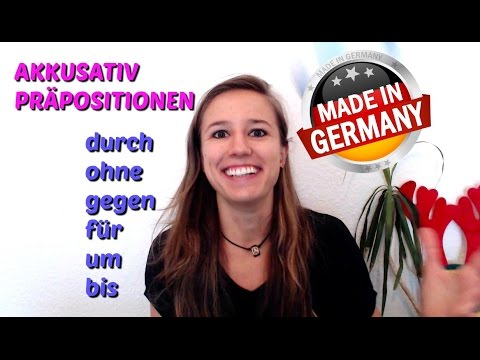 The ACCUSATIVE Part 3: How to EASILY Remember the GERMAN ACCUSATIVE Prepositions