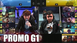 Giants vs Copenhagen Wolves | Game 1 S6 EU LCS Summer 2016 Promotion Tournament | GIA vs CW G1 1080p