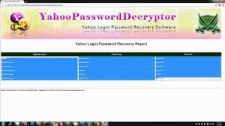 Recovering Yahoo Login Passwords using Yahoo Password Decryptor