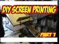 DiY Screen Printing at Home How to Build Press part 1