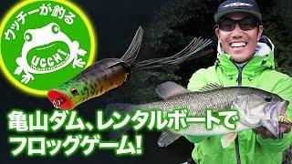 ウッチーが釣る!! 亀山ダム、レンタルボートでフロッグゲーム!|Ultimate BASS by DAIWA Vol.31
