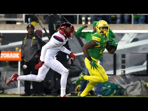Highlight: Royce Freeman becomes all-time touchdown leader at Oregon