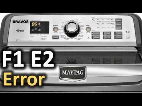 F1 E2 Error Code SOLVED!!! Maytag Bravos Top Load Washer Washing Machine by  Major Appliance