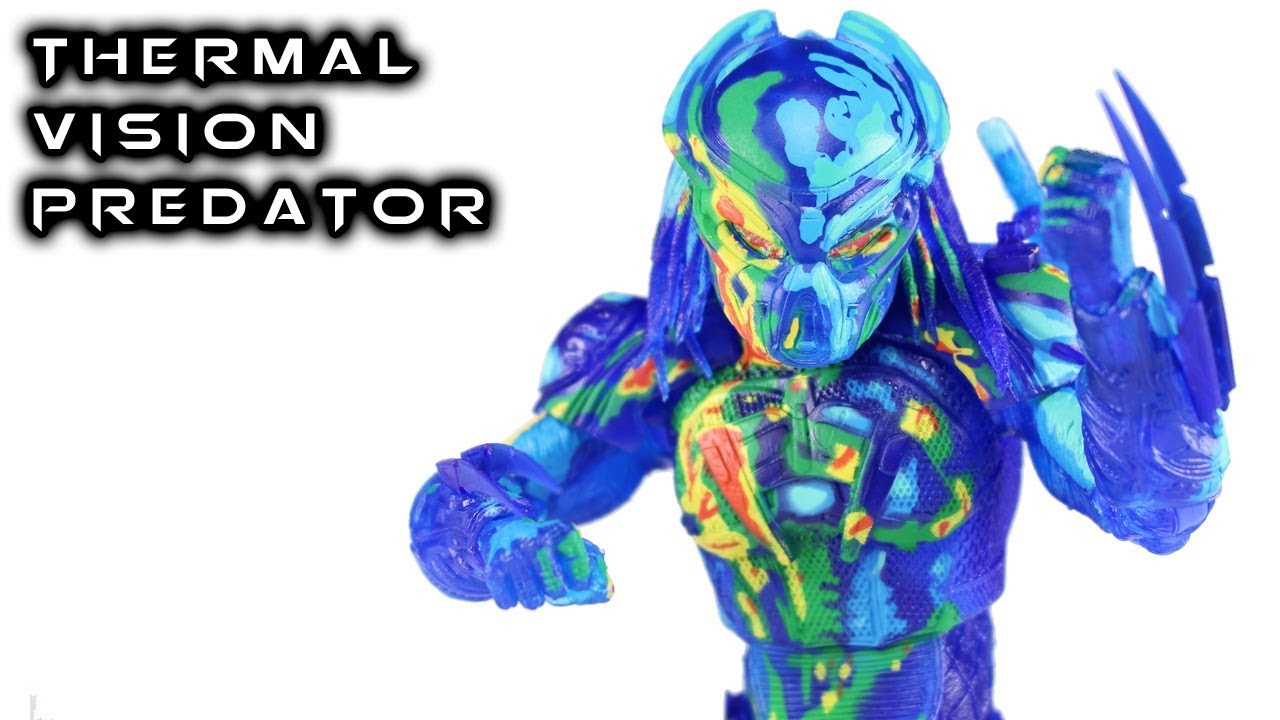 "Neca Thermal Vision Fugitive Predator 7/"" Scale Action Figure Official"