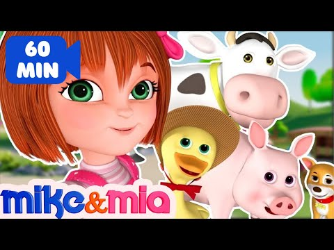 Nursery Rhymes Songs with Lyrics and Action  Collection of Popular Kids Songs  Mike and Mia