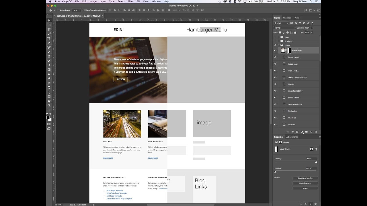 How To Make A Website Wireframe In Photoshop