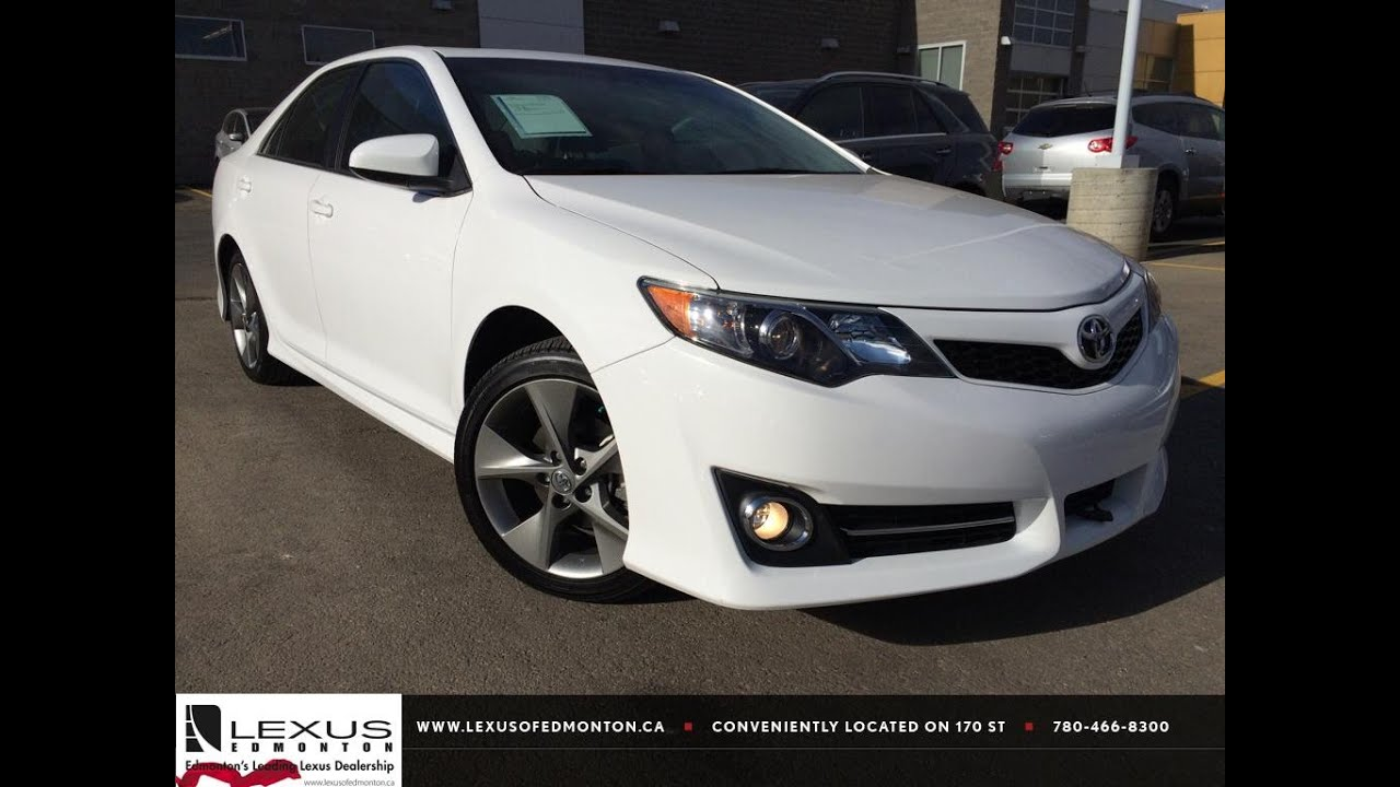 Pre Owned White 2014 Toyota Camry V6 Auto Se Review