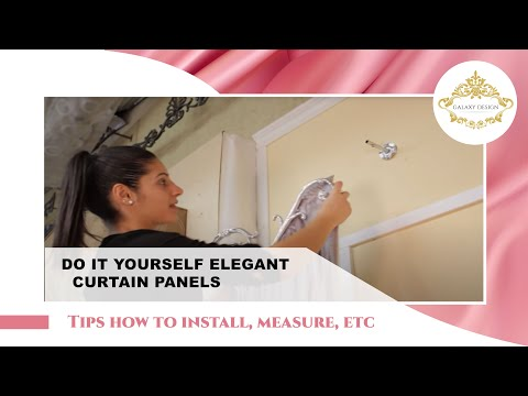 Video #31: Do It Yourself Drapes | Window Treatment Ideas With Swags, Scrolls and Holdbacks | DIY