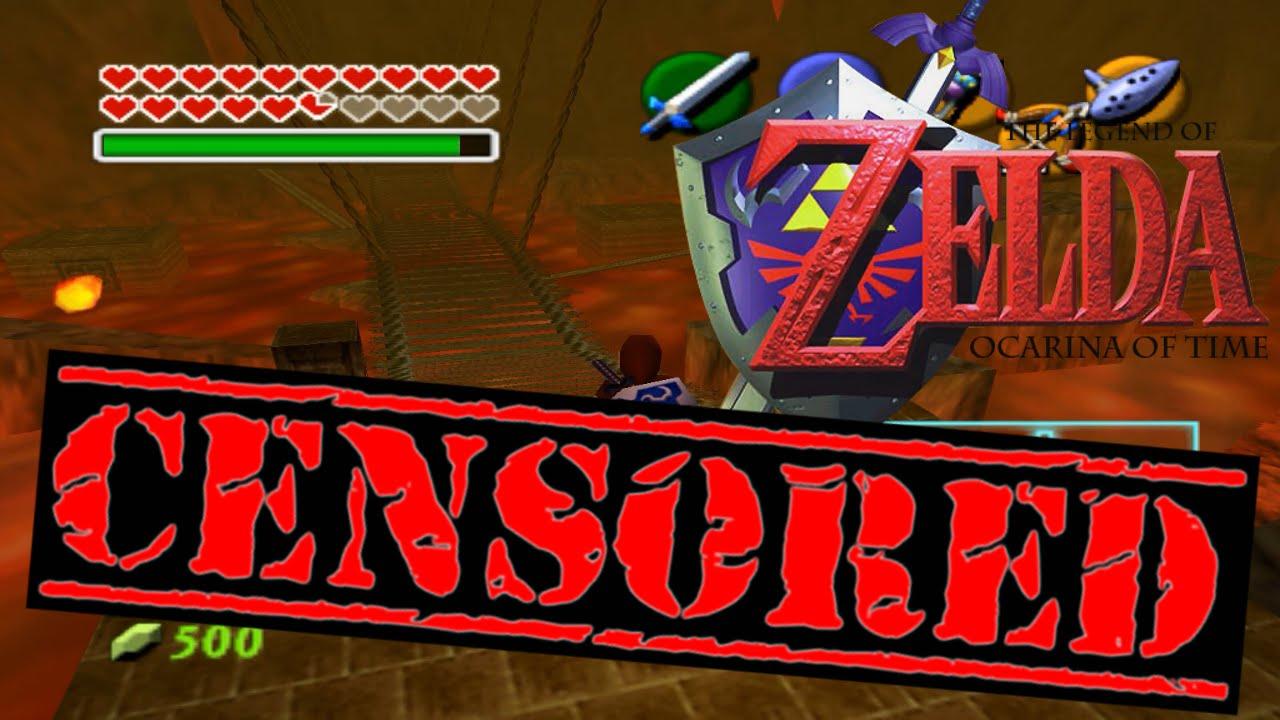 the legend of zelda ocarina of time censored fire temple