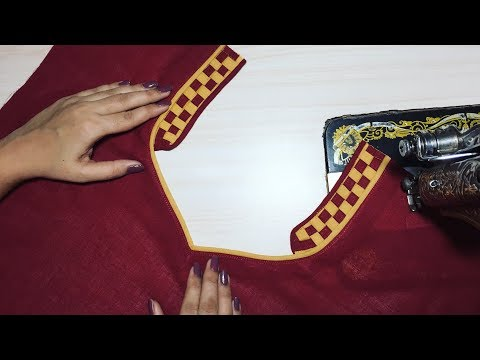 Churidar Front Neck Design Simple and Easy