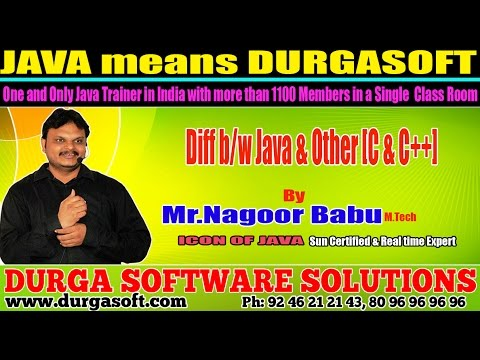 Core Java Training | Difference b/w Java & others [C & C++]  by Nagoor Babu