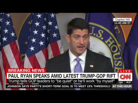 Paul Ryan Stands by Donald Trump Endorsement