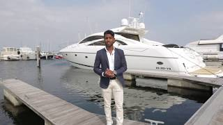 Business School Notenboom student Benji loopt stage bij Yachtclub Marina Port Zelande