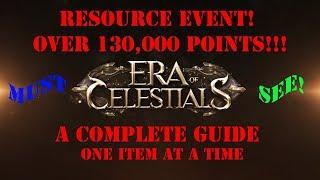 Era of Celestials Resource Event SPLURGE! 130k+ POINT! Must Watch