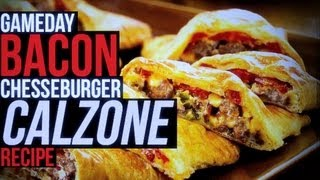 Easy Superbowl Game Day Snack: Bacon Cheeseburger Calzone