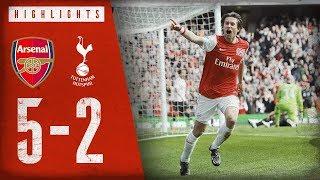WHAT A COMEBACK! | Arsenal 5-2 Tottenham Hotspur | Premier League highlights | Feb 26, 2012