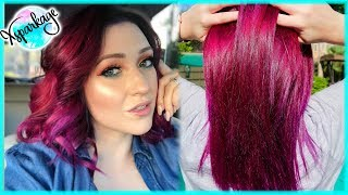 How I Keep My Pink Purple Hair Color Fresh Bright Super Low Maintenence Youtube
